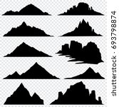 mountain ranges black... | Shutterstock . vector #693798874