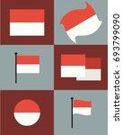 indonesia flag vector   Shutterstock .eps vector #693799090