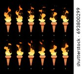torch animation with cartoon...