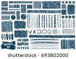 doodles set. scribble... | Shutterstock .eps vector #693802000