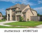 brand new two story residential ... | Shutterstock . vector #693807160