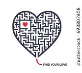 isolated vector maze... | Shutterstock .eps vector #693807658