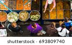 top view of a thai street food  ... | Shutterstock . vector #693809740