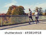 fitness  sport  people and... | Shutterstock . vector #693814918