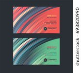 abstract creative business card ... | Shutterstock .eps vector #693820990