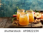 hard apple cider cocktail with... | Shutterstock . vector #693822154