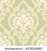 vector damask seamless pattern... | Shutterstock .eps vector #693824890
