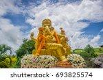 hindu god ganesha. ganesha idol.... | Shutterstock . vector #693825574