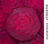 beetroot slice closeup.... | Shutterstock . vector #693828508