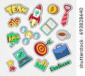 business team work doodle.... | Shutterstock .eps vector #693828640