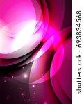 digital illustration  glowing... | Shutterstock . vector #693834568