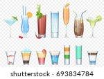 vector set of realistic... | Shutterstock .eps vector #693834784