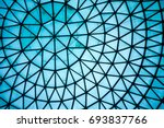 curved blue glass roof or... | Shutterstock . vector #693837766