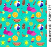 colorful summer seamless... | Shutterstock . vector #693844879