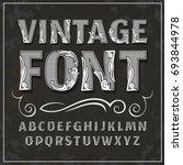 vintage label font. alcogol... | Shutterstock . vector #693844978