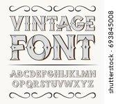 vintage label font. alcogol... | Shutterstock . vector #693845008