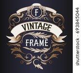 frame   vintage text... | Shutterstock . vector #693845044