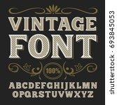 vintage label font. whiskey... | Shutterstock . vector #693845053