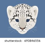snow leopard cub. face of cute... | Shutterstock .eps vector #693846556