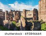 ruins of renaissance heidelberg ... | Shutterstock . vector #693846664