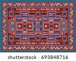 colorful oriental mosaic rug... | Shutterstock .eps vector #693848716