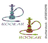 abstract hookah is divided into ... | Shutterstock . vector #693854098