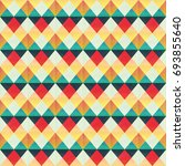 retro zigzag seamless pattern ... | Shutterstock .eps vector #693855640