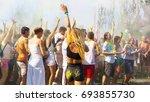 odessa  ukraine   august 5 ... | Shutterstock . vector #693855730