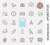 education line icon set | Shutterstock .eps vector #693857530