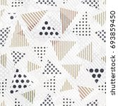 triangle seamless pattern with... | Shutterstock .eps vector #693859450