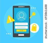 user based security banner.... | Shutterstock .eps vector #693861688