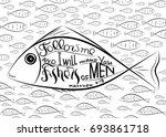 follow me. bible lettering.... | Shutterstock .eps vector #693861718