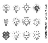 light bulb icons   idea ... | Shutterstock .eps vector #693875668