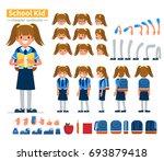 school girl character...   Shutterstock .eps vector #693879418