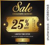 luxury gold sale banner template | Shutterstock .eps vector #693880468