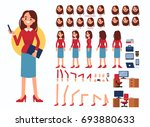 business woman character... | Shutterstock .eps vector #693880633