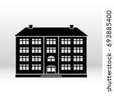 black icon building for your... | Shutterstock . vector #693885400