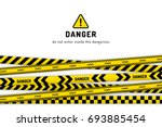 danger under construction... | Shutterstock .eps vector #693885454