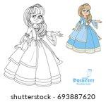 cute princess teen in lush... | Shutterstock .eps vector #693887620
