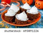 Halloween Funny Ghost Brownies...