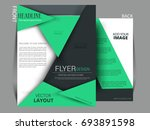 vector business flyer  magazine ... | Shutterstock .eps vector #693891598