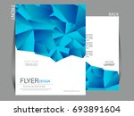 vector business flyer  magazine ... | Shutterstock .eps vector #693891604