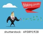 businessman catches money using ... | Shutterstock .eps vector #693891928