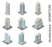 vector isometric city ... | Shutterstock .eps vector #693897250