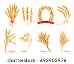 ears of wheat  oat  rye and... | Shutterstock .eps vector #693903976