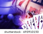 blackjack craps and slots.... | Shutterstock . vector #693910150