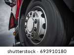 chromed truck wheel closeup.... | Shutterstock . vector #693910180