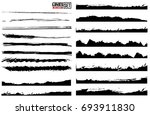 set of grunge and ink stroke... | Shutterstock .eps vector #693911830