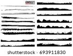 set of grunge and ink stroke... | Shutterstock .eps vector #693911830
