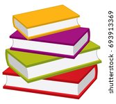 vector stack of books. vector... | Shutterstock .eps vector #693913369